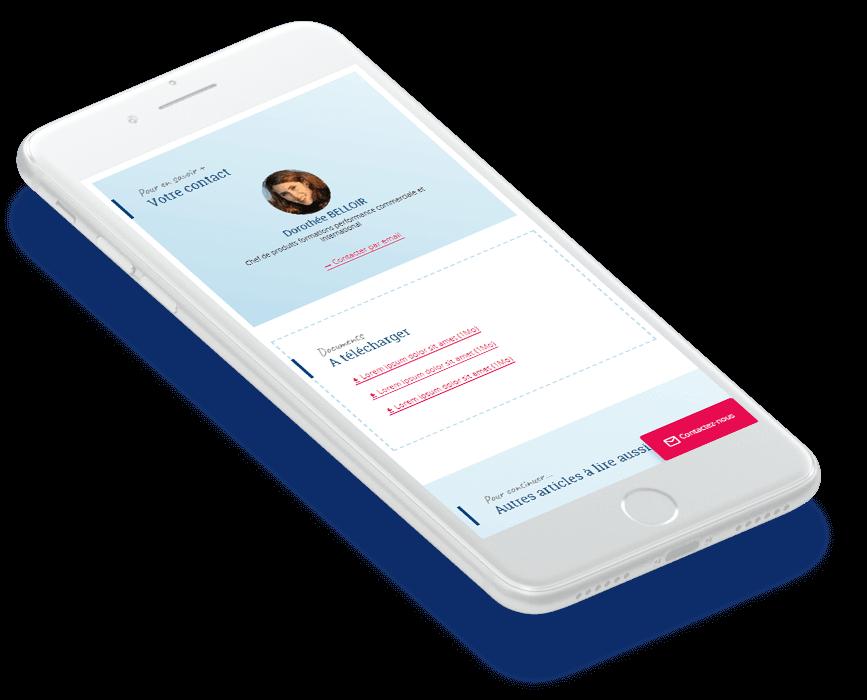 Site mobile CCI Formation - Solution portail digital