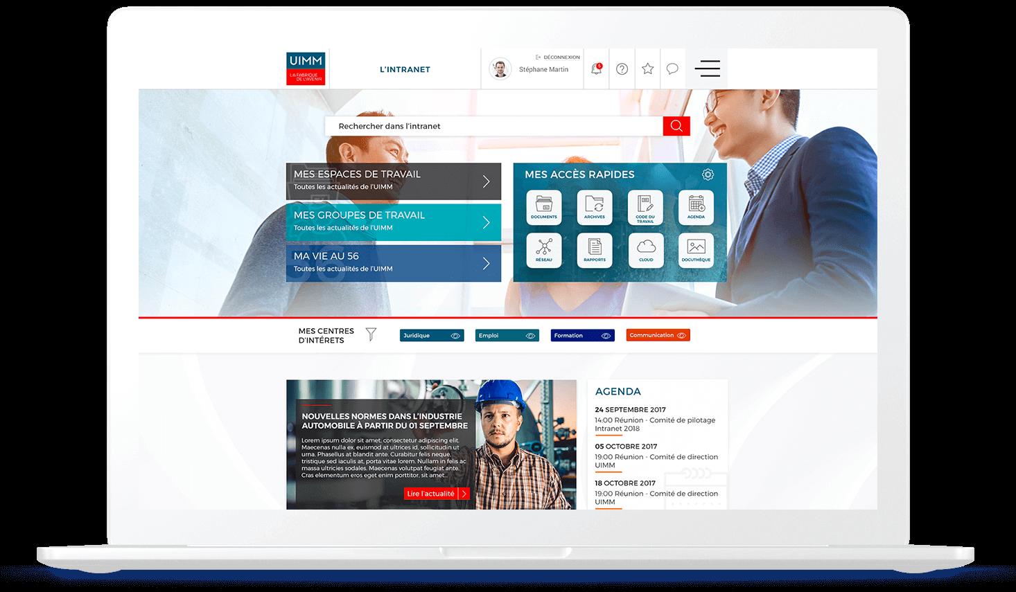 Intranet IUMM - Solution portail digital