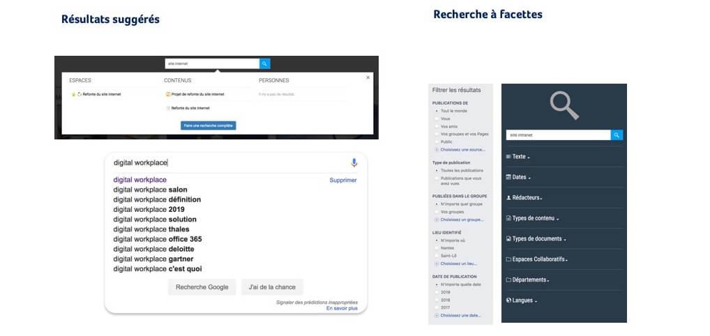 UX/UI Recherche suggérée et à facette pour vos moteurs de recherche