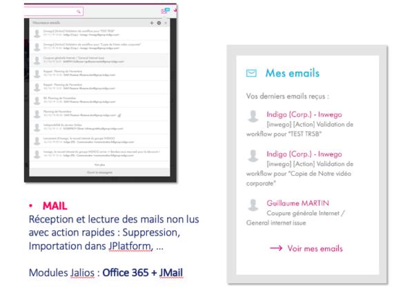 Office 365 intégration Outlook